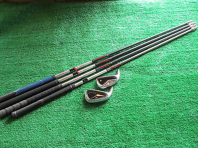 Taylor Made R9 6 irons 4 shafts & 2 heads for fitting/ swing training LEFT HAND