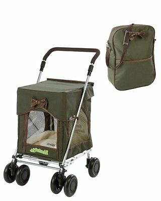 Sholley Petmobil in Country Carriage Green with Matching Bag