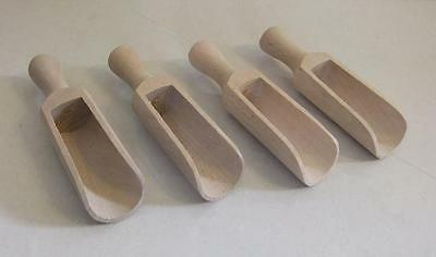 SET of 50 x WOODEN SCOOP COFFEE SUGAR SALT HERBS  FLOUR