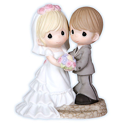Precious Moments Two Lives One Love Porcelain Figurine Wedding New 103020