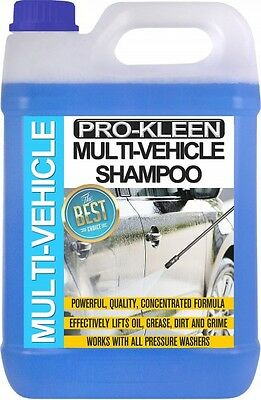 Multi Vehicle Car Shampoo Tfr Wash Wax 5 Litres Car Cleaning Pro-Kleen