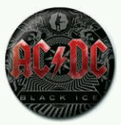 AC/DC Black Ice Button Badge Official Band Merch Merchandise  NEW