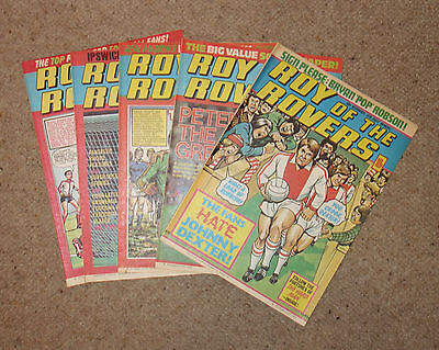 ROY OF THE ROVERS COMICS x 5  -1979  - (G2966a)
