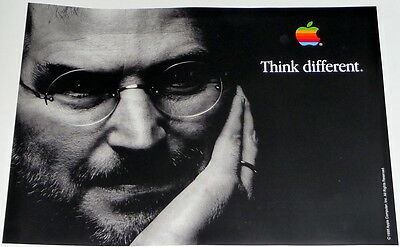 STEVE JOBS * APPLE COMPUTERS * black poster * 17/11 inches MINT