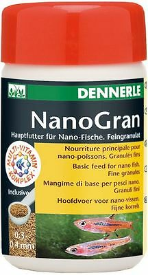 Dennerle Fish Food: Nano Gran (NanoGran) 100ml Granules for All Small Nano Fish