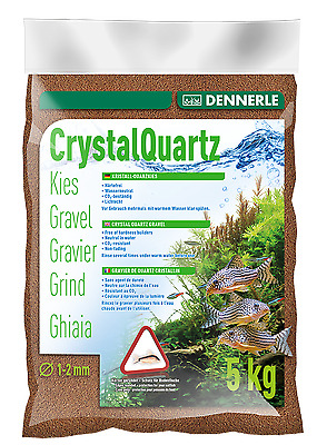 Dennerle Crystal Quartz Gravel Light Brown 5 kg