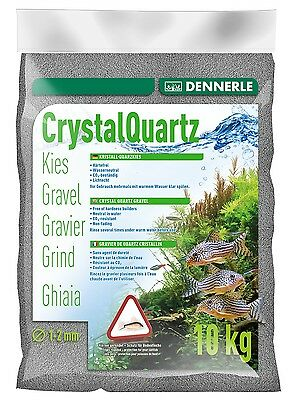 Dennerle Crystal Quartz Gravel Slate Grey 10 kg Inert for Aquarium Fish Tank