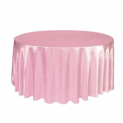 "10 PACKS 132"" inch Round SATIN Tablecloth WEDDING 25 COLOR 6' Ft table USA SALE"