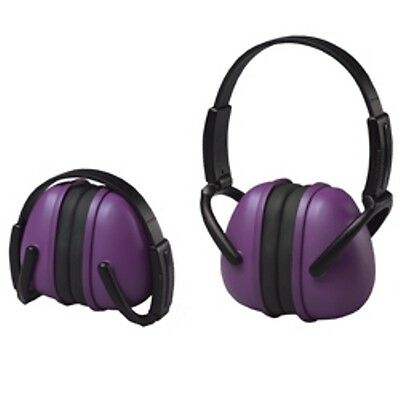 Purple Ear Muffs Hearing Protection Folding & Adjustable Work//Hunting/Shooting