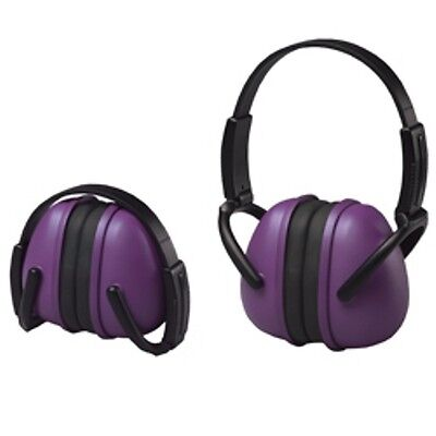 2 Purple Ear Muffs Hearing Protection Folding & Adjustable Work/Hunting/Shooting