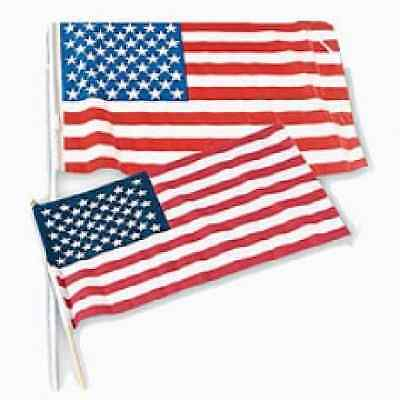 4TH OF JULY USA Flags - Cloth 12 Pc Patriotic (USD4)
