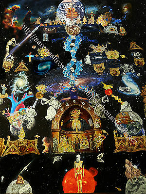 Psychedelic Collage Masters of Spirit and Science