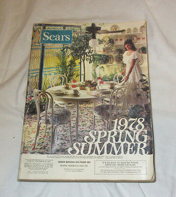 VINTAGE SEARS 1978 SPRING AND SUMMER CATALOG Midwest Edition Complete BIN