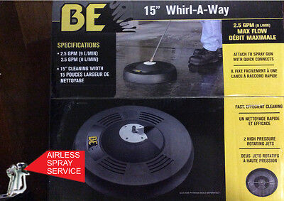 """Be / Bar 15"""" Whirl-A-Way Surface Cleaner For Pressure Cleaners"""