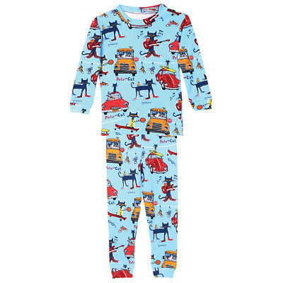 Pete the Cool Cat Cotton Toddler Pajamas - Blue
