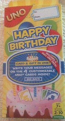 UNO Card Game by Mattel New For Family Friend Travel HAPPY BIRTHDAY