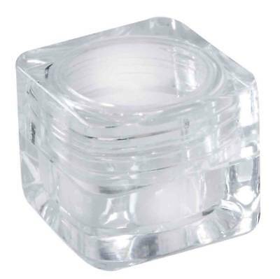 30 x 3g Clear Plastic Lip Balm Small Sample Cosmetic Jars Container + Cap