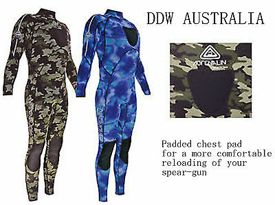 Spearfishing Camo Wetsuit From Adrenalin Sports Australia 3mm Green & 2mm Blue