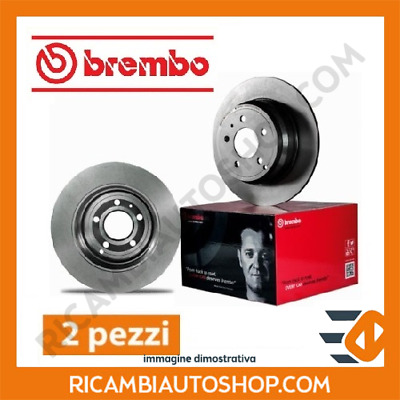2 Dischi Freno Anteriori Brembo Smart City-Coupe (450) 0.8 Cdi Kw:30 1999>2004 0