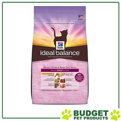 Hills Ideal Balance Dry Natural Chicken & Rice For Adult Cats 6.8kg