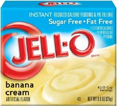 Jello Sugar Free Banana Cream Instant Pudding & Pie Filling Mix