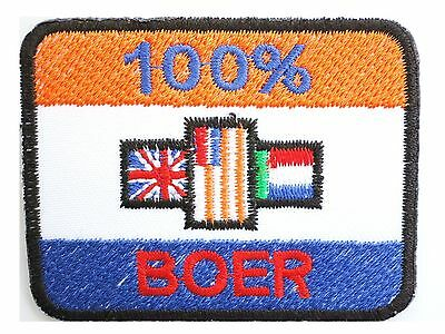 South Africa Old Flag 100% Boer Sew Iron On Embroidered Shirt Bag Badge Patch