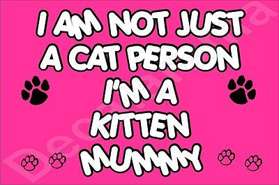 I'M NOT JUST A CAT PERSON I'M A KITTEN MUMMY Fridge Magnet GIFT