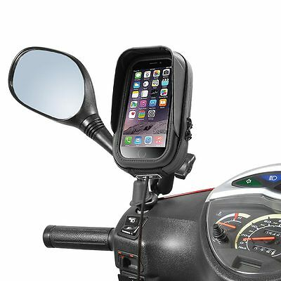 SYM Kymco Holder iPhone Smartphone Pocket waterproof antiglare mirror mounting