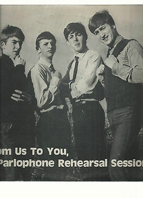 The Beatles-25 Ctm- Vinyles- From Us To You,A Parlophone Reahearsal Session-Cule