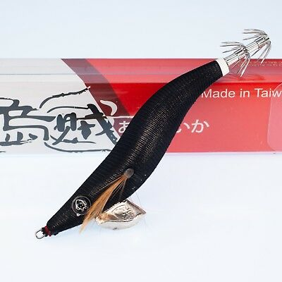RUI SQUID JIG ALL BLACK BROTHERS Revision SIZE 3 SILVER BELLY EGI LURE