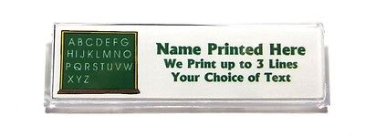 Blackboard ABC Custom Name Tag Badge ID Pin Magnet for Teacher School Tutor