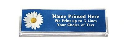 Daisy Blue Custom Name Tag Badge ID Pin Magnet for Scout Leaders Florists