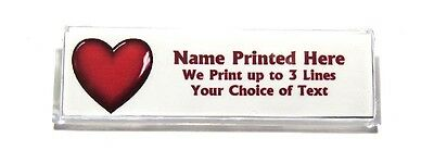Heart Red Custom Name Tag Badge ID Pin Magnet for Volunteers Nurses Teachers
