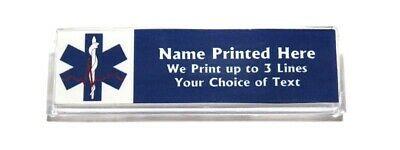 Paramedic Blue Cross Custom Name Tag Badge ID Pin Magnet for Paramedics EMT EMS
