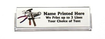 Tools Custom Name Tag Badge ID Pin Magnet for Carpenter Handyman Builder