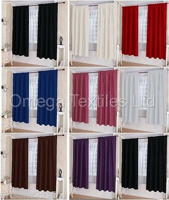 Pair Thermal, Insulating, Blackout Pencil Pleat Tape Top Curtains