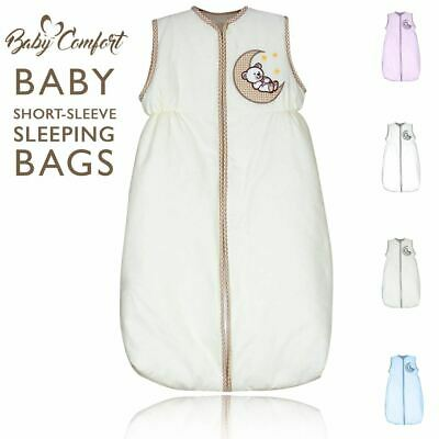 Baby Nursery Short Sleeve Sleeping Bag 2.5 Tog 6 - 18 Months 100% Cotton