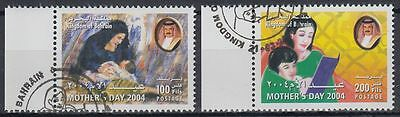Bahrain 2004 used Mi.791/92 Muttertag Mother's Day [g2120]