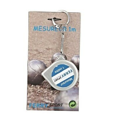 1-Meter Steel Rule Tape Measure Keyring Keychain 1M For Petanque Boules Game
