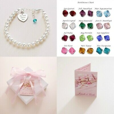 Personalised Wedding Jewellery for Girls & Women with Birthstone, Thank you Gift