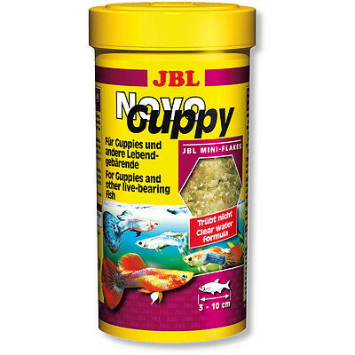 JBL NovoGuppy 250ml Novo Guppy Food Flakes in *Original* Packaging