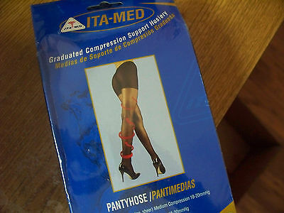 Ita-Med Compression Pantyhose U CHOOSE SIZE NUDE (20-22 mmHg)