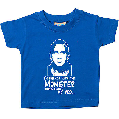 Eminem, Im Friends With The Monster Baby Toddler Tee T-Shirt Baby Gift TS406