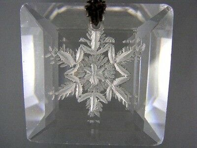 EXQUISITE Antique Early 1900 Sterling Hand Carved SNOWFLAKE Crystal Pendant RARE