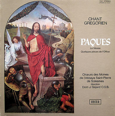 Chant Gregorien Paques 1969 Decca 7501 French Stereo Gatefold NEAR MINT