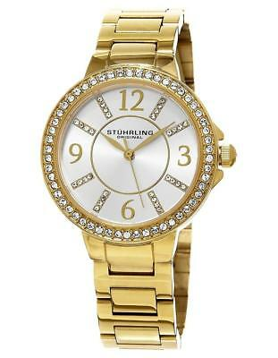Stuhrling Original Allure 480 04 Crystal Accented Stainless Steel Womens Watch
