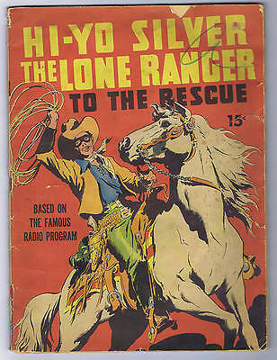Large Feature Comic #7 Lone Ranger to the Rescue Dell 1939 INCOMPLETE, SCARCE!