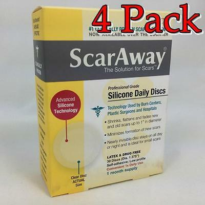 ScarAway Professional Silicone Daily Discs, 30ct, 4 Pack 070030511678T1379