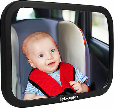 Car Seat Baby Mirror, Adjustable, Shatter-Proof, Rear Facing Infant Seat Mirror.