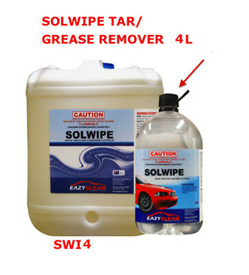 4L Solwipe Tar Grease Remover 4L Solvent Wipe 4L Grease Remover EAZY GLEAM SWI4
